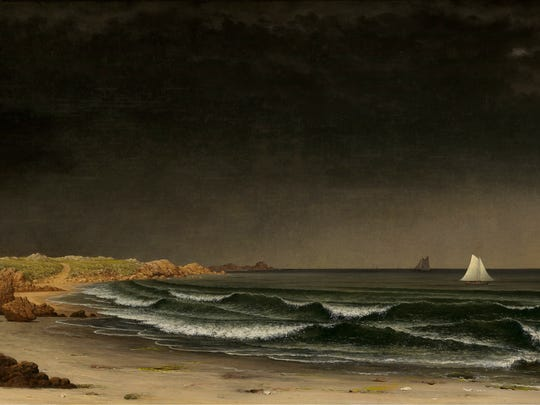 """Martin Johnson Heade painted """"Approaching Storm: Beach near Newport"""" in 1961-'62. The artist differentiated himself from other painters at the time by painting a variety of subjects."""