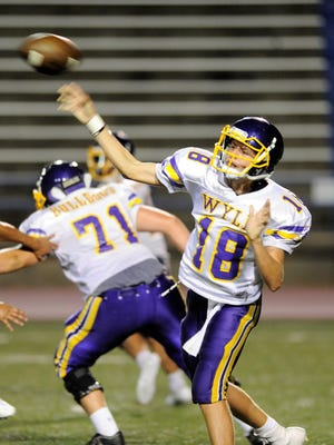 Wylie quarterback Tyler O'Conner throws a pass during Thursday's scrimmage against San Angelo Lake View.