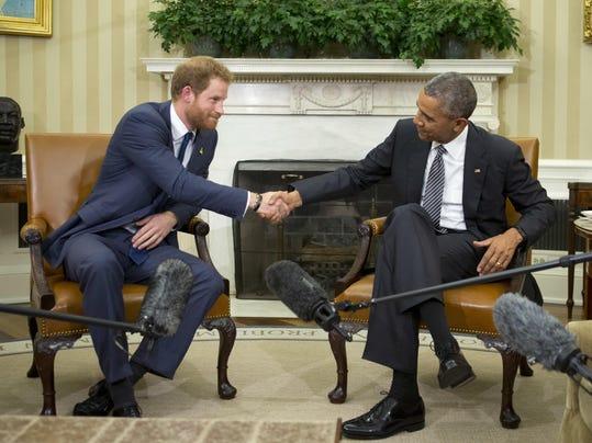 Barack Obama,Prince Harry