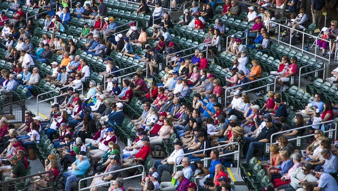 There were a few empty seats in the game between the Arizona Diamondbacks and the San Diego Padres at Salt River Fields at Talking Stick, Wednesday, March 9, 2016.