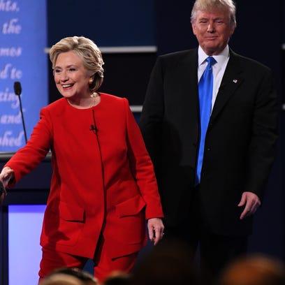 Sep 26, 2016; Hempstead, NY, USA;  Democratic presidential
