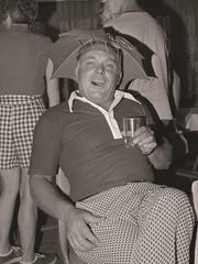 Champlain Country Club member Al Redman having a good time at the club in the 1970s.