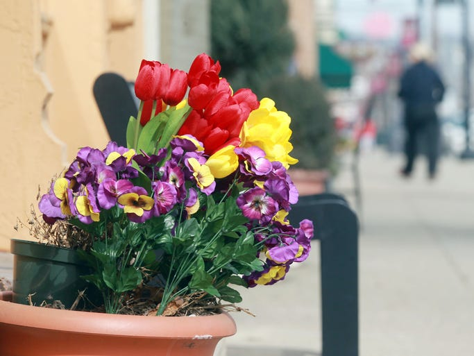 It's already spring in the 300 block of Fairfield Avenue in Bellevue, where a shop owner has placed a pot of flowers.  They'll have to come in overnight Wednesday when the temperature is expected to drop below 20 degrees.