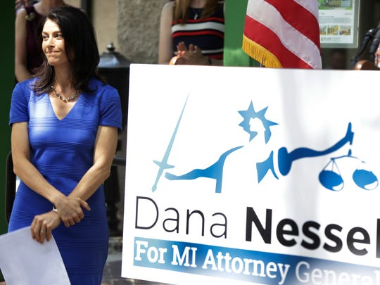 Attorney Dana Nessel announces her bid to run for  Michigan Attorney General in Ann Arbor on Tuesday Aug. 15, 2017.