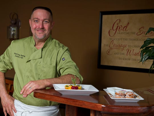 Serenity Cafe chef and co-owner Gregory Manning.