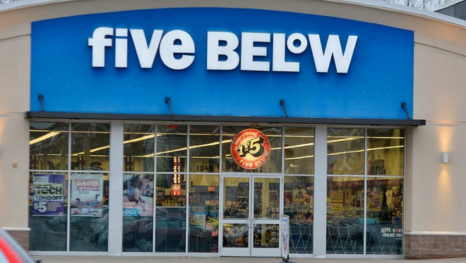 Five Below in the Delco Plaza shopping center in West Manchester Township