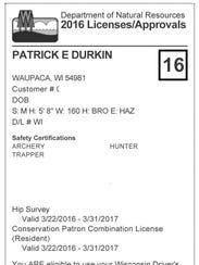 The DNR's new license certificates and carcass tags