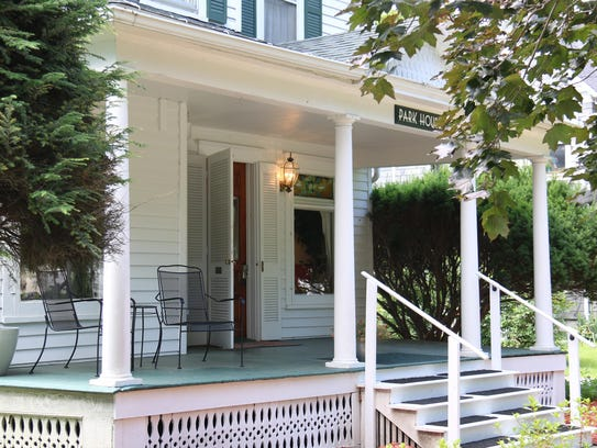 The Park Street House is a two-story B&B traditional
