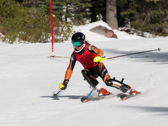 The boys ski slalom winner was Cooper Laoli of Foothill.