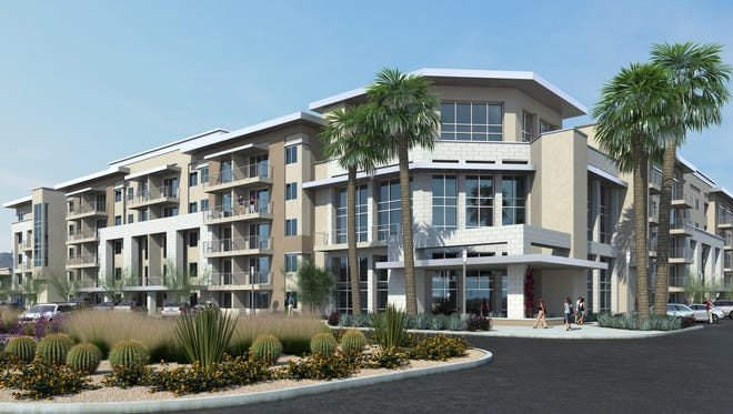 3-D rendering of The View at Cascade