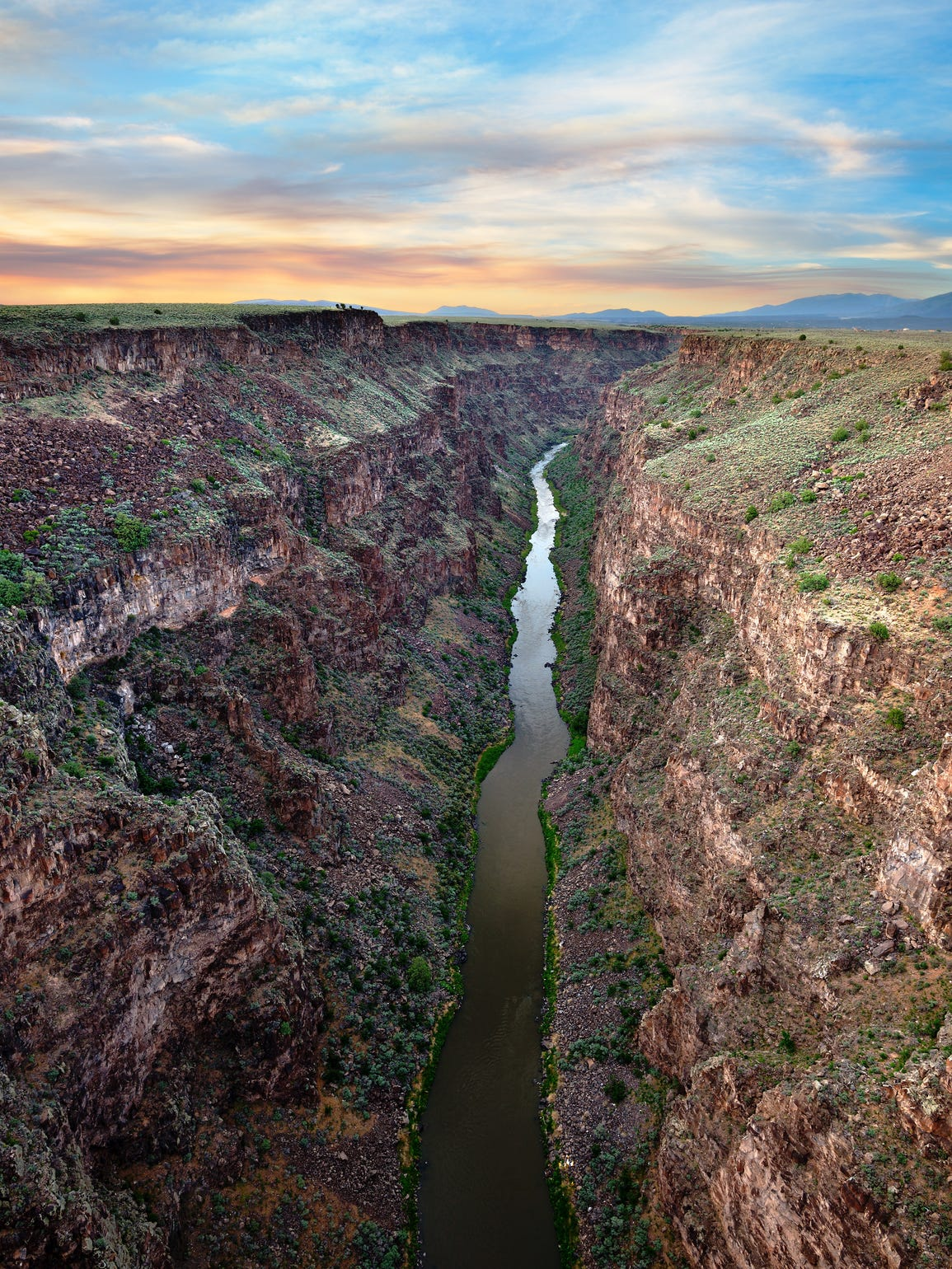 Picture of the Rio Grande at Sunset, just outside of
