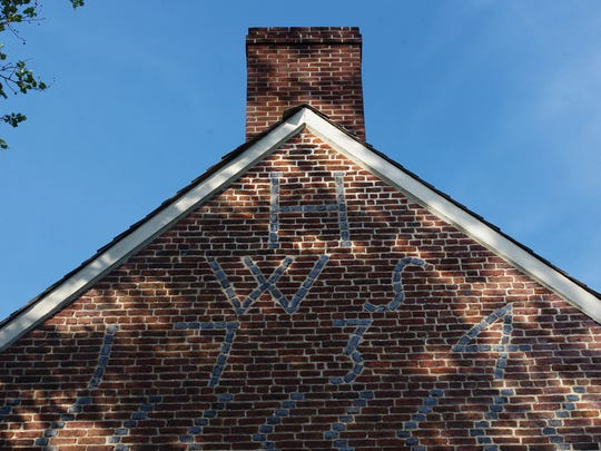 The initials of owners William and Sarah Hancock can