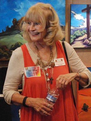 Doña Ana Arts Council Board of Directors President Barbara Reasoner at the Las Cruces Arts Fair.