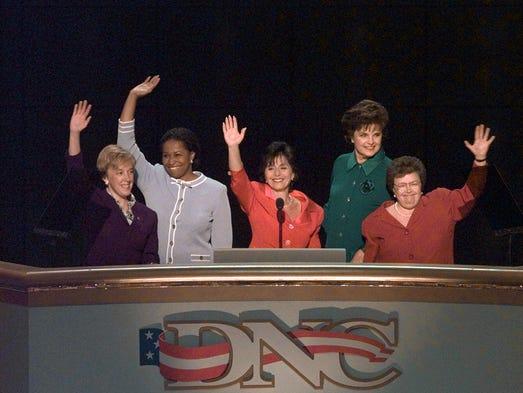 From left: Patty Murray, Carol Moseley-Braun, Barbara