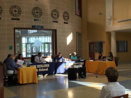 Cape Henlopen School Board Meeting 7.14