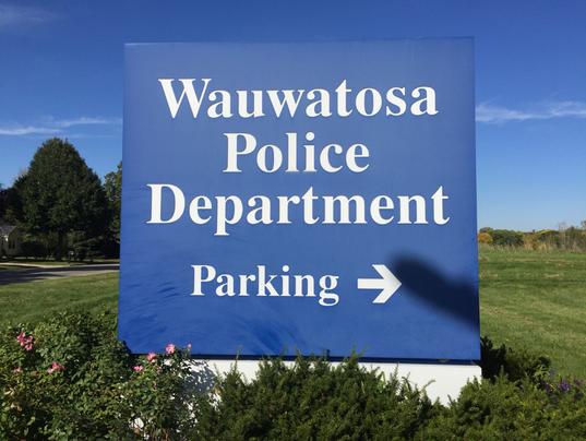 Wuawatosa Police Dept sign