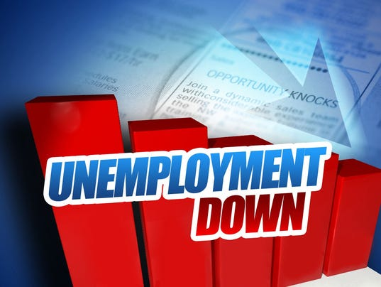 Unemployment rate down