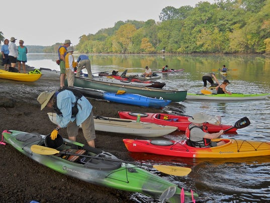 French Broad paddlers