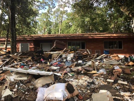 Beaumont, Texas Hurricane Harvey damage