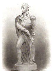 Benjamin Kinney's wooden statue of Ethan Allen. It