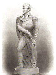 Benjamin Kinney's wooden statue of Ethan Allen. It