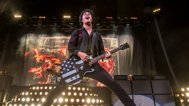 Billie Joe Armstrong of Green Day performs at Klipsch Music Center on Wednesday, August 16, 2017.