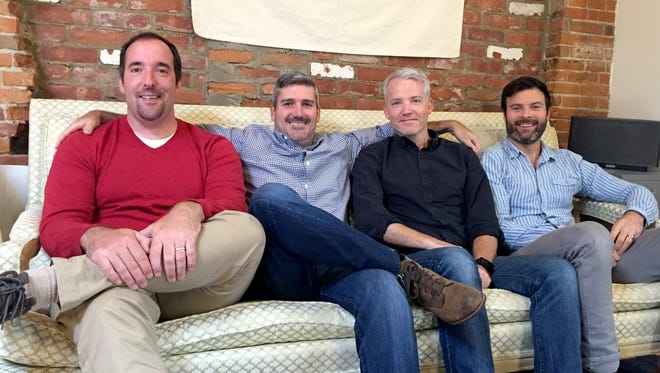 Parent Co.'s Justin Martin, COO, Mike DeCecco, CEO, Ed Shepard, editor-in-chief, and Jackson Latka, head of product, left to right.