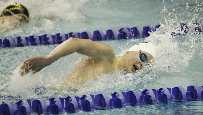 Pittsford's P.J. Ransford in 2014. He's competing in the USA Swimming Olympic Trials this week.