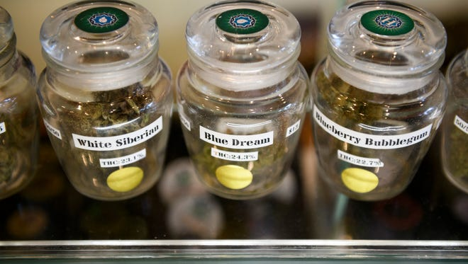 Marijuana for sale at Bloom City marijuana dispensary in Ann Arbor.