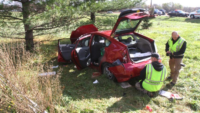 A woman was airlifted to Strong Memorial Hospital after a crash at Gillis Road and County Road 9 in Victor. The other driver also received injuries and was taken to an area hospital by ambulance.