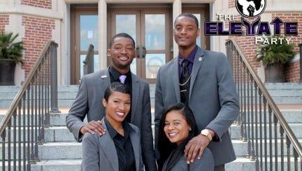 The Elevate Party's executive slate: President: Rashard Johnson; Vice president: Mone't King; Secretary: Diamond Hill; Treasurer: Felix Pendleton