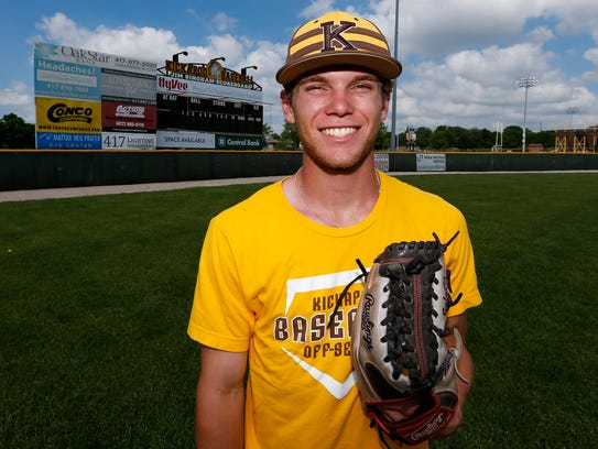 Kickapoo High School left fielder Zac Salyers was named