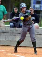 Gallatin High sophomore Michaela Thompson swings at a second-inning pitch during Wednesday afternoon's 14-1 loss to visiting Beech.