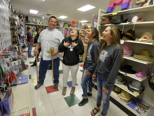 Shaun Kipp of Browning shops for halloween costumes