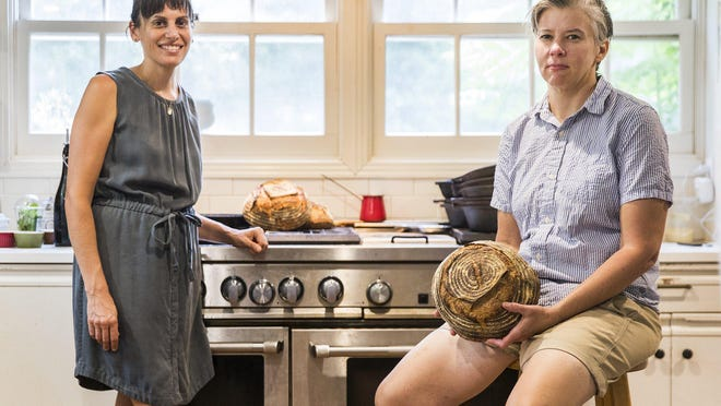 Libbey Goldberg and Sarah Stevens have been baking bread during the quarantine to raise money for COVID-19 relief.