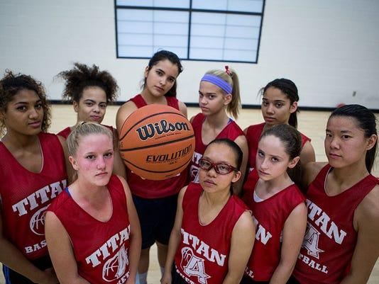 Melting pot of girls basketball team brings diversity