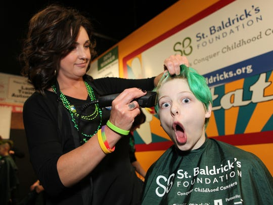 Many people in Murfreesboro had their heads shaved