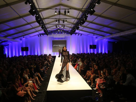 Coachella Valley's own, Michael Costello,  presents his designs at the 2015 Fashion Week at El Paseo on March 25, 2015.