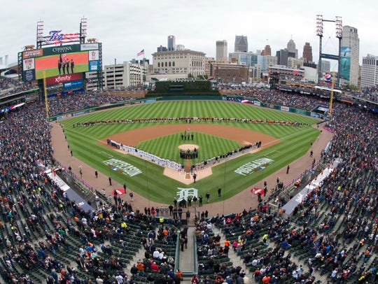 Oct 5, 2014; Detroit, MI, USA; General view before