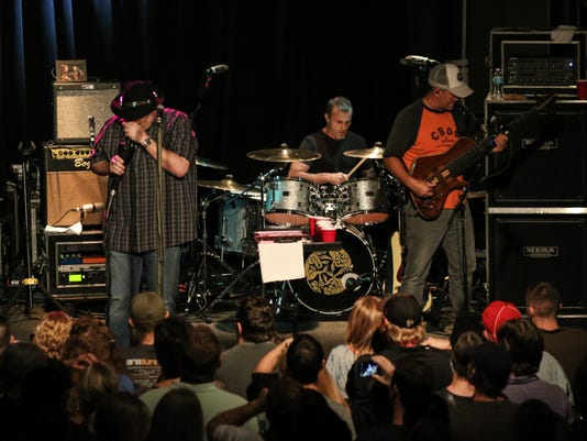 Blues Traveler performs Saturday night during their sold-out Vin