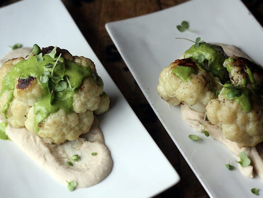 The roasted cauliflower at Social Southern Table &