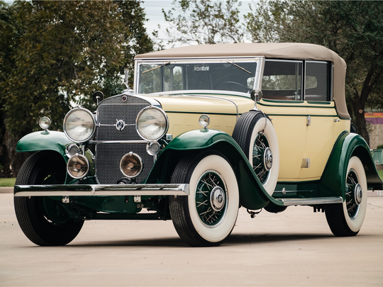This classic Cadillac features a V12 engine and went through a year-long restoration in 2005. It's up for auction at Barrett-Jackson on Jan. 30, 2016.