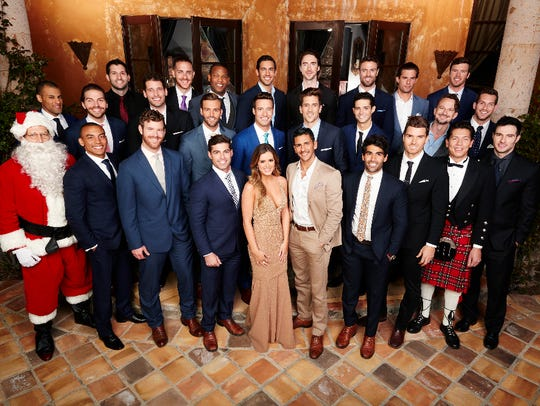 JoJo Fletcher with the men who will vie for her heart