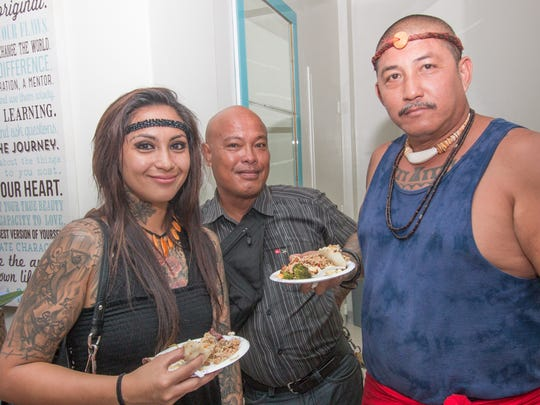 Bert Duarte/ For Pacific Daily News Jerica Reyes, Jq Mendiola and Kota San Nicolas at the grand opening of Synergy Wellness Center and Boka Box in Hagatna.