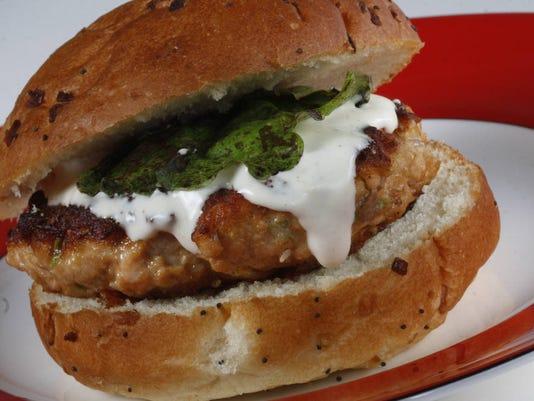 Salmon burger photo