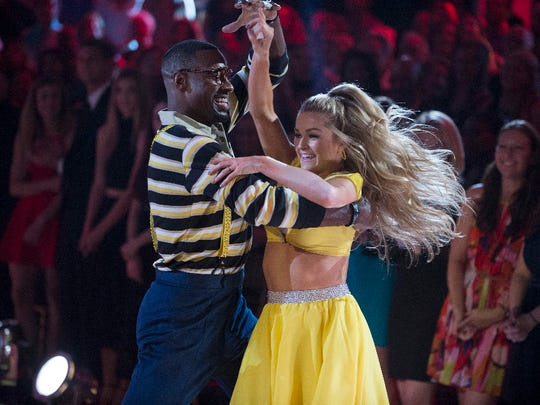 Calvin Johnson and Lindsay Arnold dance to the theme from 'Family Matters' on 'Dancing With The Stars.'