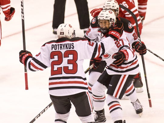 St. Cloud State women's hockey player Hannah Potrykus