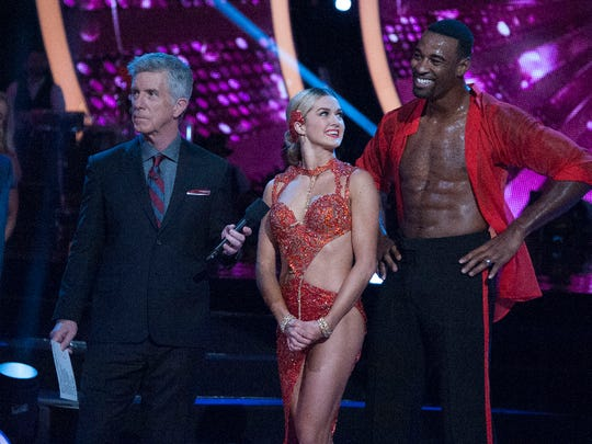 "The nine remaining celebrities ready themselves for one of the hottest nights in the ballroom - Latin Night - with each celebrity performing either a rumba, salsa, samba, paso doblé, cha cha or Argentine tango, on ""Dancing with the Stars,"" live, MONDAY, OCTOBER 17 (8:00-10:01 p.m. EDT), on the ABC Television Network."