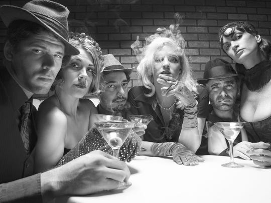 """The cast of """"Murder at the Speakeasy"""""""