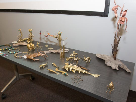 Sculptures by Peruvian artist Diego Alonso Carbajal were on display at Pensacola State College earlier this week.  Carbajal is the 2016 Invited International Artist for the Great Gulfcoast Arts Festival.